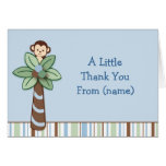 Trendy Monkey Jungle Thank You Note Cards
