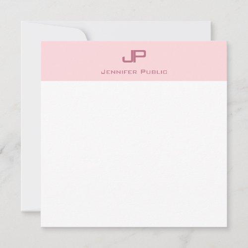 Trendy Monogram Blush Pink Minimalist Template