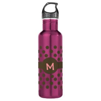 Trendy Monogram 24oz Water Bottle