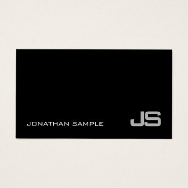 Lawyer Themed Trendy Monogram Plain Modern Classy Design Luxury Business Card