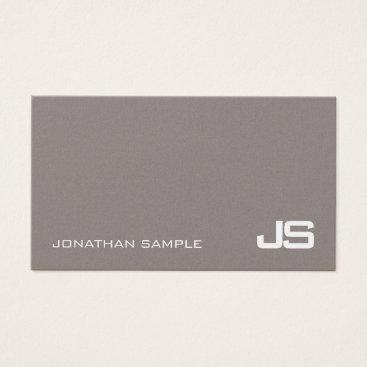 Lawyer Themed Trendy Monogram Plain Modern Classy Design Luxury Business Card