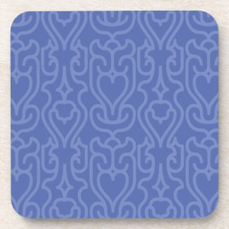 Trendy Moroccan Blue shades pattern Drink Coaster
