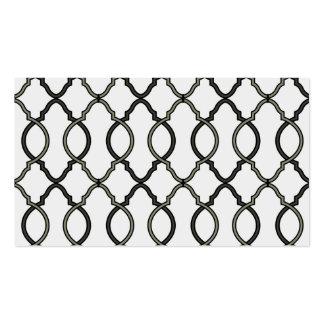 Trendy Moroccan Pattern Decorator Trellis Design Business Card