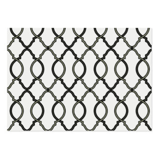 Trendy Moroccan Pattern Decorator Trellis Design Large Business Card