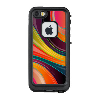 Trendy Multi Color Abstract Whirl Design LifeProof FRĒ iPhone SE/5/5s Case