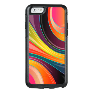 Trendy Multi Color Abstract Whirl Design OtterBox iPhone 6/6s Case