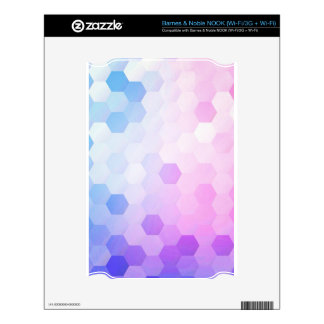 Trendy multi color cubes chic modern pattern fun decal for NOOK
