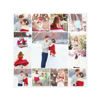 Trendy Multi Photo Collage Canvas Print