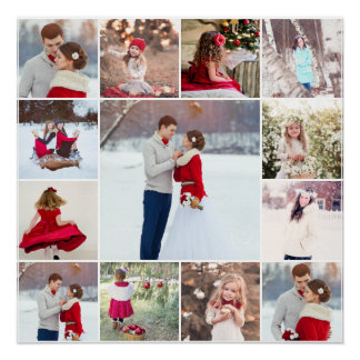 Trendy Multi Photo Collage Poster