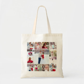 Trendy Multi Photo Collage Tote Bag