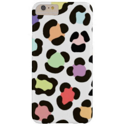 Trendy Multicolored Large Leopard Print Fur Effect Barely There iPhone 6 Plus Case