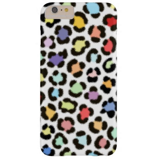 Trendy Multicolored Leopard Fur Effect Pattern Barely There iPhone 6 Plus Case