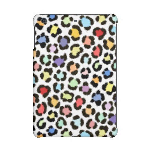 Trendy Multicolored Leopard Fur Effect Pattern iPad Mini Case