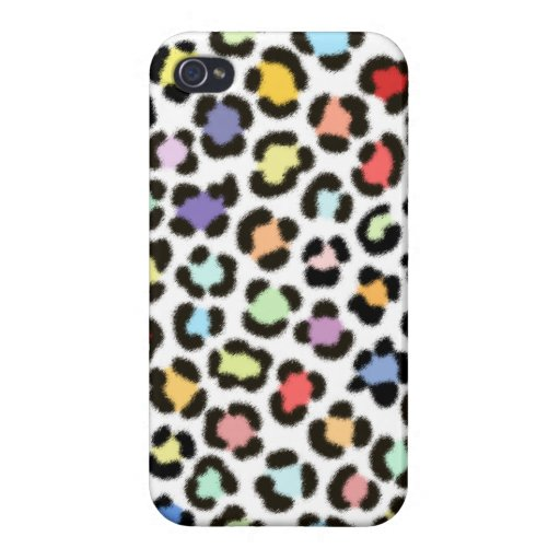 Trendy Multicolored Leopard Fur Effect Pattern Case For iPhone 4