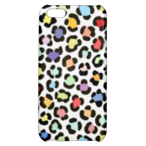 Trendy Multicolored Leopard Fur Effect Pattern Case For iPhone 5C