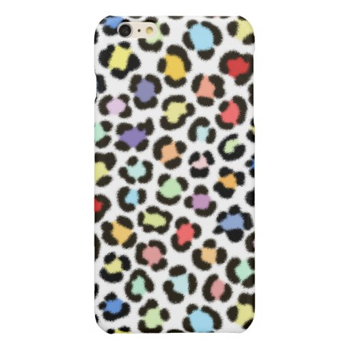 Trendy Multicolored Leopard Fur Effect Pattern Glossy iPhone 6 Plus Case