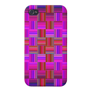 Trendy Multicolored Mosaic Tile Pattern iPhone 4/4S Cases