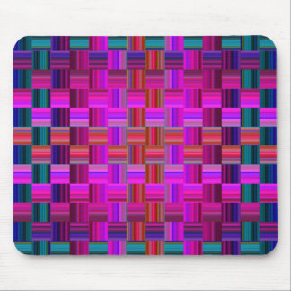 Trendy Multicolored Mosaic Tile Pattern Mouse Pads
