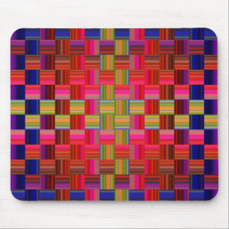 Trendy Multicolored Mosaic Tile Pattern Mousepads