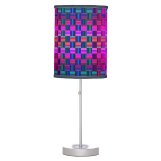 Trendy Multicolored Mosaic Tile Pattern Table Lamp