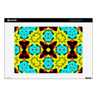 Trendy multicolored pattern laptop skins