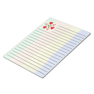 Trendy multicolored pattern notepad
