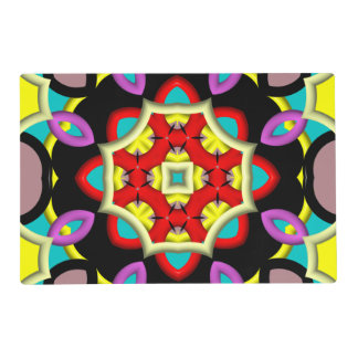 Trendy multicolored pattern placemat