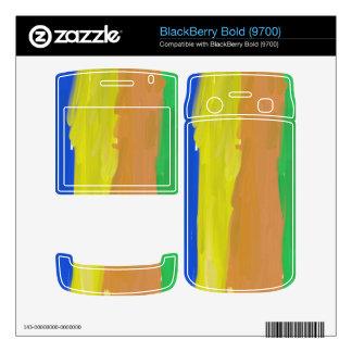 Trendy multicolored pattern BlackBerry bold 9700 skin