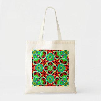 Trendy multicolored pattern tote bag