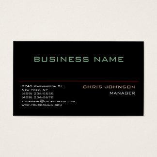 Trendy Multiple Color Rich Black Business Card