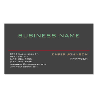Trendy Multiple Color Rich Grey Business Card