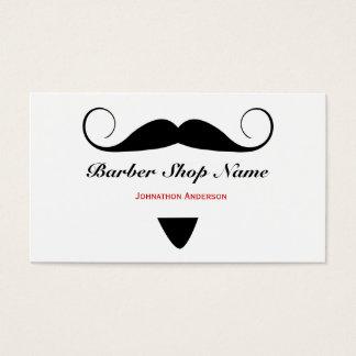 Trendy Mustache Barber Shop Hair Stylist For Men Business Card