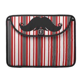 Trendy Mustache Moustache Stache w/Stripes Sleeve For MacBook Pro