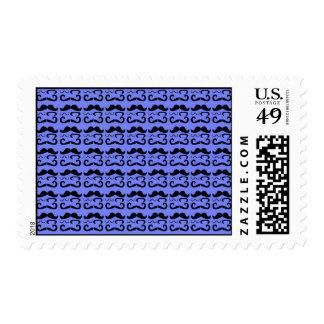 Trendy Mustache Pattern Postage Stamp