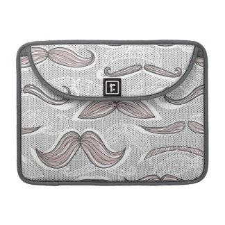 Trendy Mustache Pattern Sleeve For MacBooks