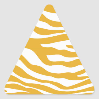 Trendy Mustard Yellow Zebra Print Pattern Stickers