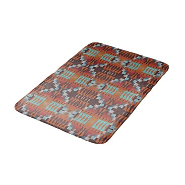Beach Themed Trendy Native American Indian Tribal Pattern Bathroom Mat