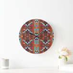 Trendy Native American Indian Tribal Pattern Large Clock
