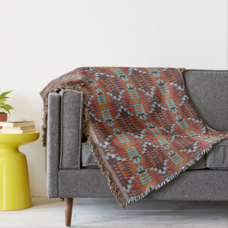 Trendy Native American Indian Tribal Pattern Throw