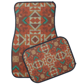 Trendy Native American Indian Tribe Mosaic Pattern Car Mat