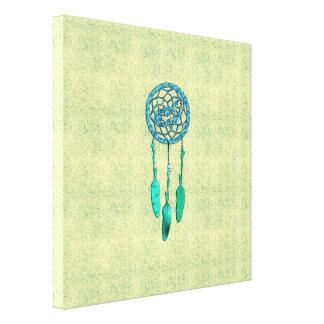Trendy Native American Wolf Dreamcatcher Canvas Print