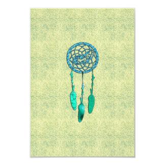 Trendy Native American Wolf Dreamcatcher Card