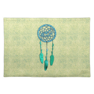 Trendy Native American Wolf Dreamcatcher Placemats