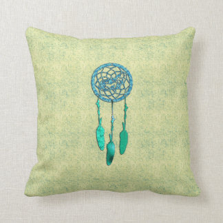 Trendy Native American Wolf Dreamcatcher Throw Pillow