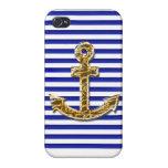 Trendy navy look iPhone case iPhone 4 Protectores