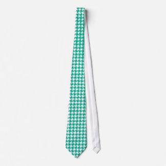 Trendy Necktie, Emerald Green Dogstooth Check Tie