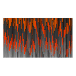 Trendy Neon Orange Black  ZigZag Chevron Pattern Business Card