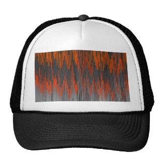 Trendy Neon Orange Black  ZigZag Chevron Pattern Trucker Hats