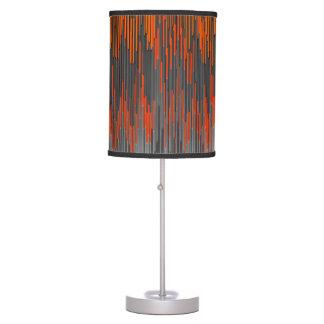 Trendy Neon Orange Black  ZigZag Chevron Pattern Table Lamp