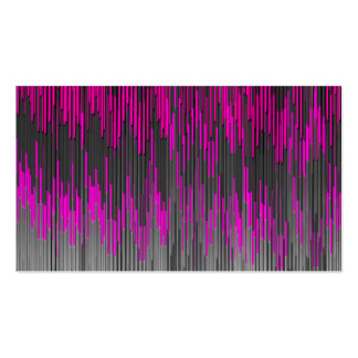 Trendy Neon Pink  black  ZigZag Chevron Pattern Business Card